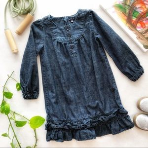 Baby GAP Girl's Denim Dress Size 5T EUC